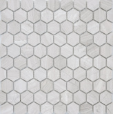 Мозаика Leedo Ceramica Pietrine Hexagonal Travertino silver матовый К-0086 (18х30) 6 мм на сайте domix.by